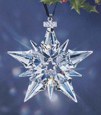 2001 Retired Swarovski annual Ornament  - Picture for reference only