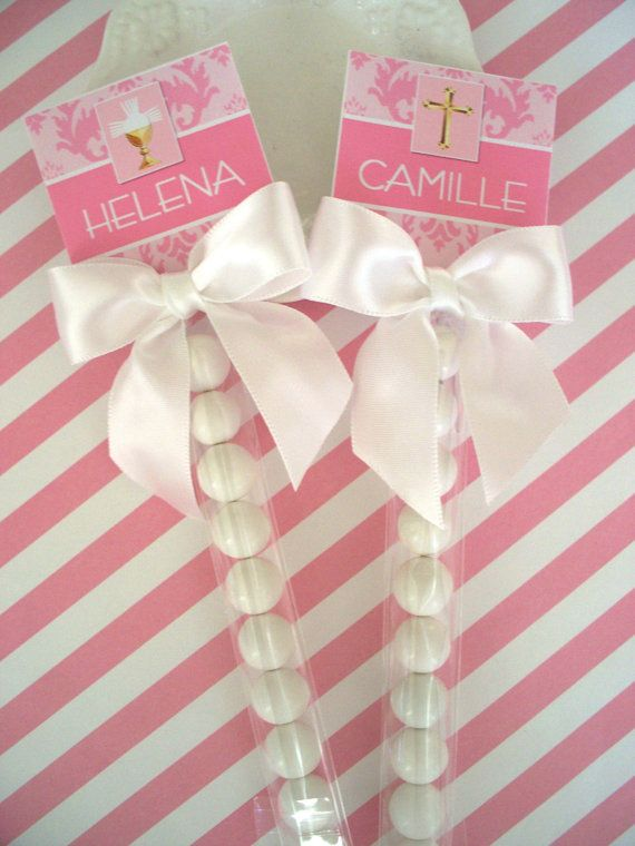 Listing for Lisa Sugar of 30 1st Holy Communion Favors for Girls bubble sticks customer assembles all parts included on Etsy, $37.50