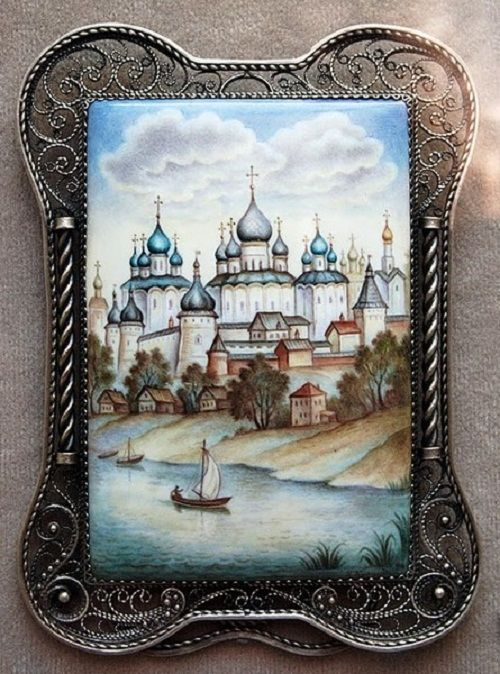 Russian enamel - Rostov finift
