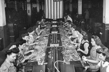 """Photos from the """"heyday"""" of American manufacturing via TIME."""