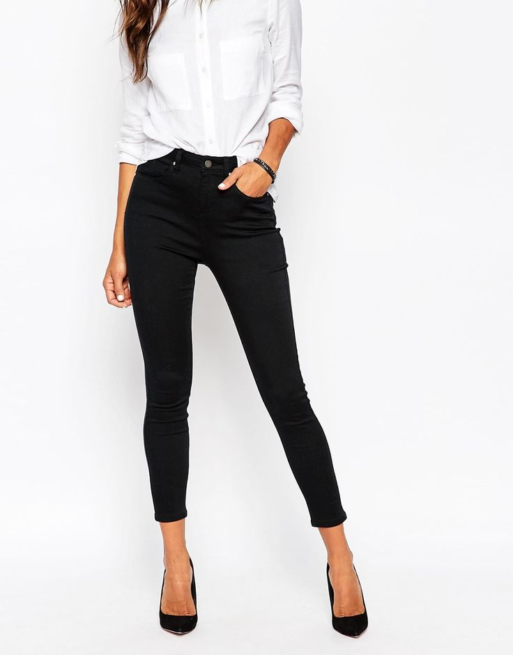 Image 1 ofASOS Ankle Length Stretch Skinny Trousers