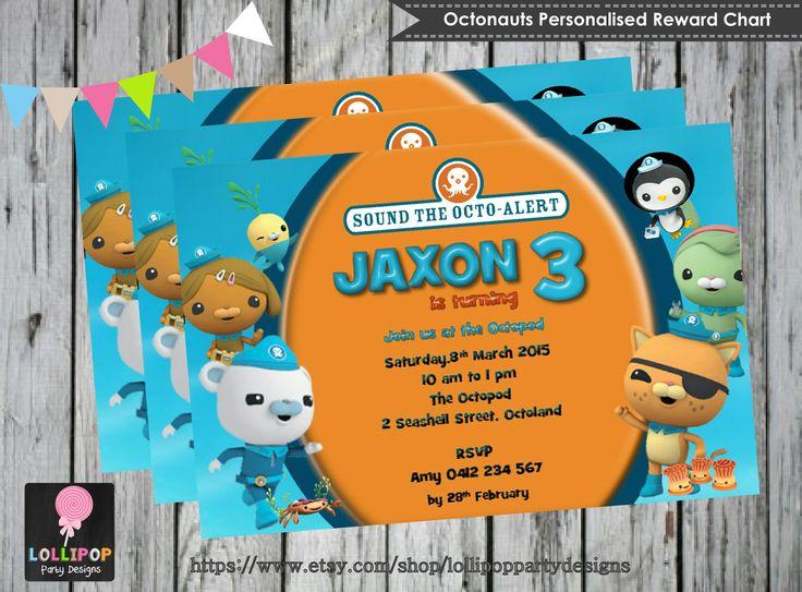 OCTONAUTS INVITATION - Personalised - Printable - Invites - Digital Print - DIY - Birthday Party Invitation - Digital Download File - Kids by LollipopPartySupplies