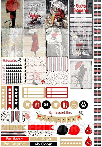 Chic Rain – Stickers Imprimibles