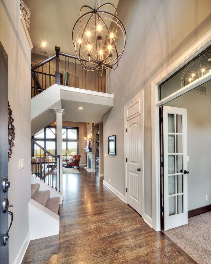 Farmhouse Entryway Chandelier: 2 Story Entry Way: Bickimer Homes For Sale
