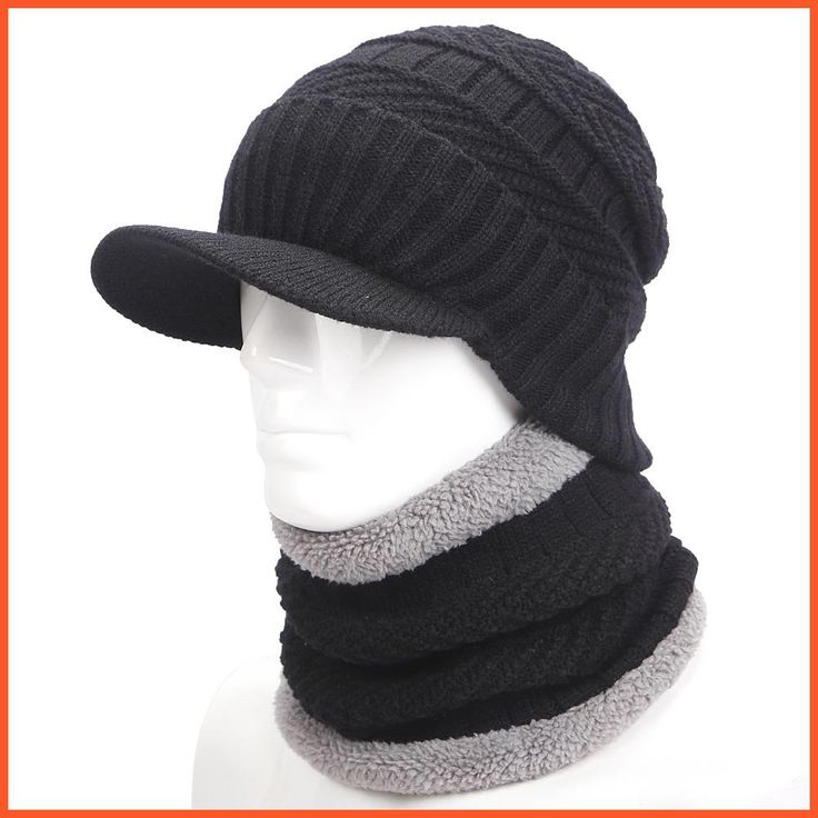warmer winter hat knit cap scarf cap Winter Hats For men knitted hat men Beanie Knit Hat Skullies Beanies Men Beanies Cap MY