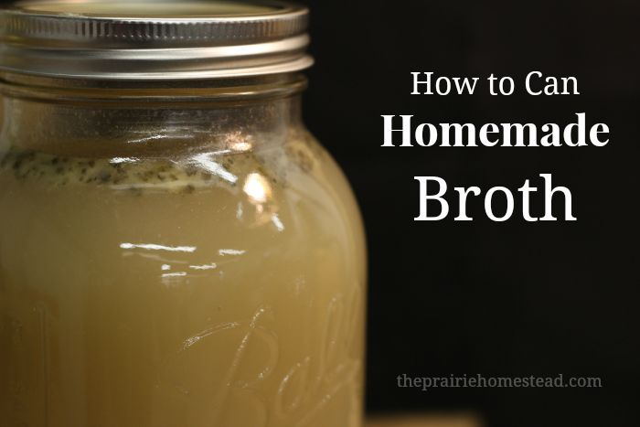 how to can broth