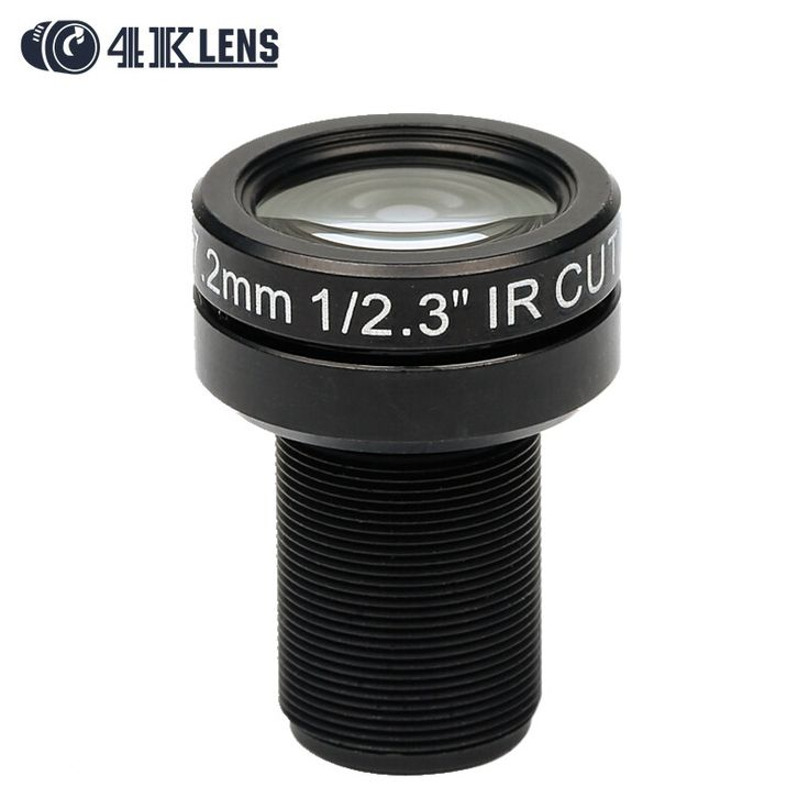 4K LENS 7.2MM Lens 1/2.3 Inch 10MP IR 47D HFOV NON Distortion for Gopro DJI Phantom Drones Newly Coming Hot