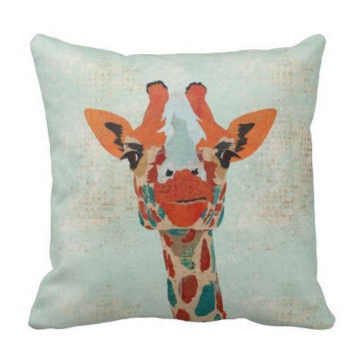 Amber Peeking Giraffe  MoJo Pillow