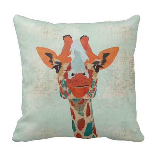 Amber Peeking Giraffe  MoJo Pillow