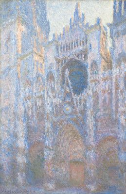 Rouen Cathedral, West Façade, 1894  by Claude Monet at the National Gallery in Washington DC