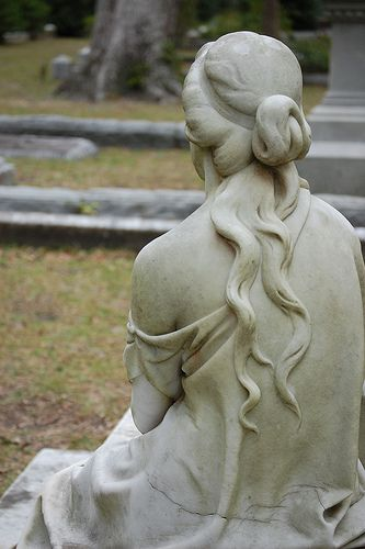 Bonaventure Cemetery, Savannah, GA. === the next time i go, i will have this picture too. it's stunning! i can't believe i have this statue but from a different angle...