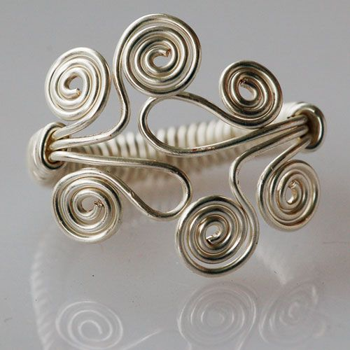 wire funky ring