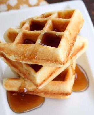 Waffles made with a bit of malted milk powder are the ideal waffles for an easy  kid-approved breakfast!