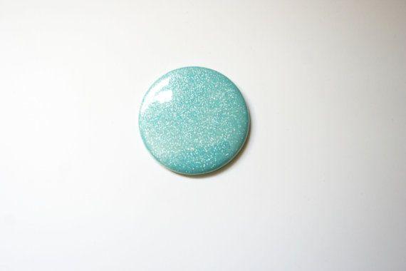 Aigue-marine - paillettes turquoise Teal-miroir de poche - parfait pour Pâques paniers, demoiselle d'honneur cadeaux, faveurs parti