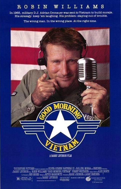 Good Morning Vietnam......1987. De combinatie van de muziek, het verhaal en Robin williams is gewoon top.