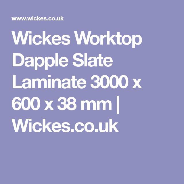 Wickes Worktop Dapple Slate Laminate 3000 x 600 x 38 mm | Wickes.co.uk