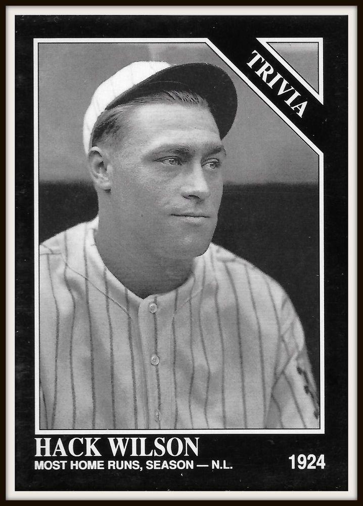 HACK WILSON The Sporting News 1992 Conlon Collection #585 Baseball Card - MINT #ChicagoCubs
