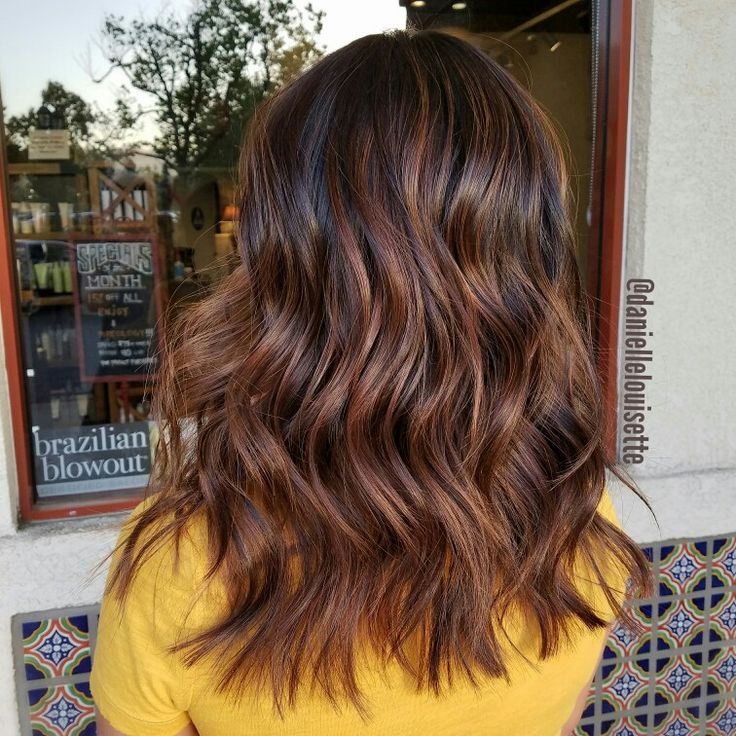 Caramel Balayage and textured mid length cut @daniellelouisette