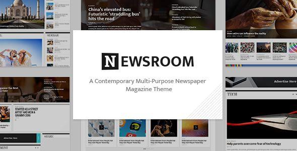 Newsroom – A Contemporary Multipurpose Newspaper / Magazine Theme