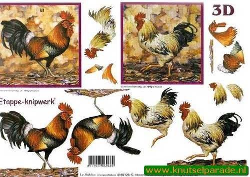 Nieuw bij Knutselparade: 5524 Le Suh knipvel hanen 4169 126 https://knutselparade.nl/nl/dieren/1302-5524-le-suh-knipvel-hanen-4169-126.html   Knipvellen, Dieren , Overige thema's -  Le Suh