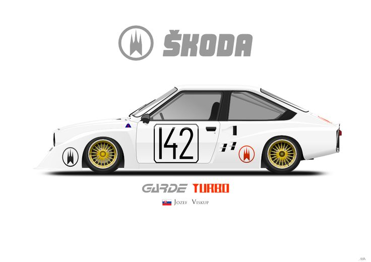 """1983 Škoda Garde Turbo """"Salamander"""" #inkscape #garde #skoda"""