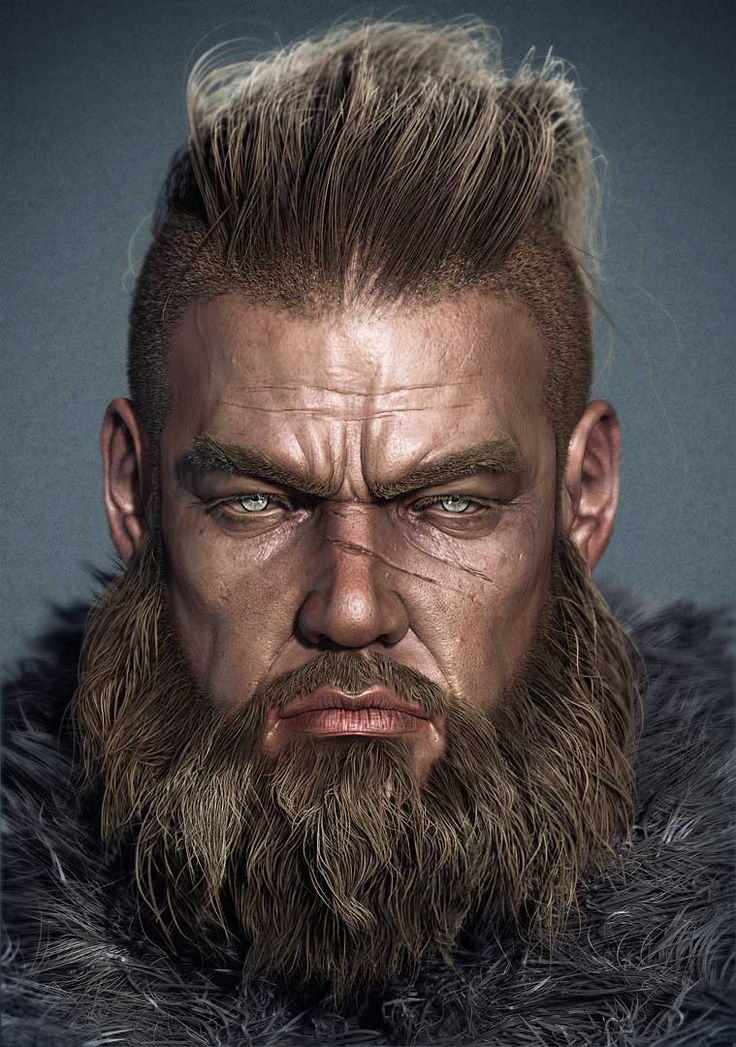 Warrior by FiveFingers on zbrushcentral. Looks like Ragnar Lothbrok to me.