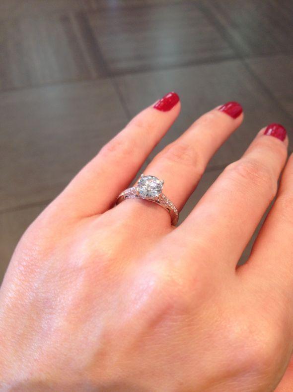 1 12 Carat Round On A Size 4 5 Finger Wedding P Rn