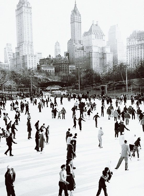 Ice Skating, Central Park, New York City