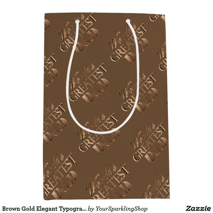 Brown Gold Elegant Typography World's Greatest Dad