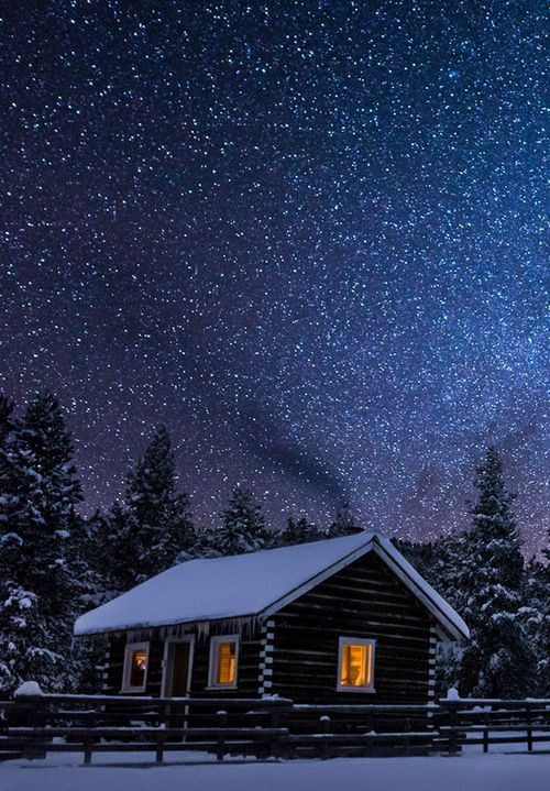 Winter's Night, Big Sky, Montana... can I please spend my honeymoon in a place like this (just without the snow)