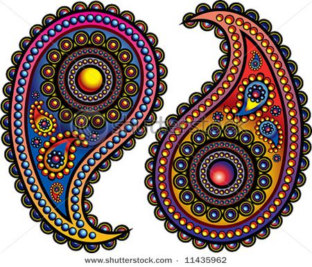 colorful paisleys |Pinned from PinTo for iPad|