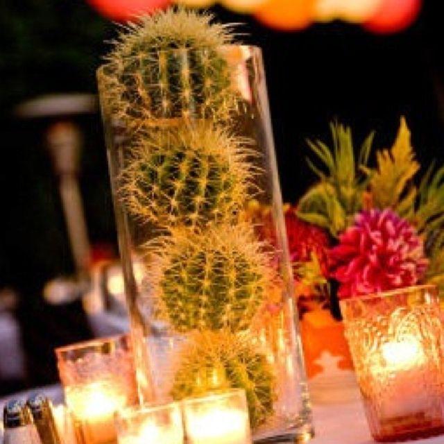 cactus centerpiece i really like this idea    flower