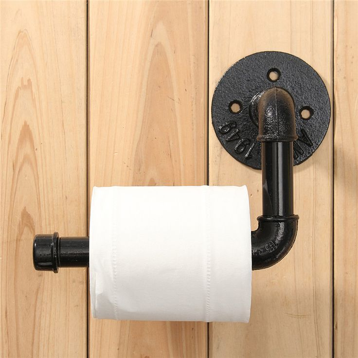 Cheap toilet roll paper holder, Buy Quality toilet paper roll holder directly from China paper holder Suppliers: Industrial Rustic Style Black Pipe Metal Toilet Paper Roll Holder Wall Mounted Bathroom Toilet Roll Paper Holder Towel Rack