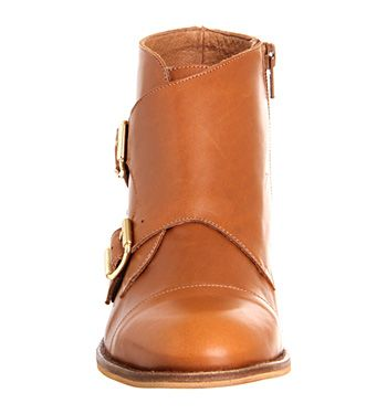 Office Bert Monk Boot Tan Leather - Ankle Boots