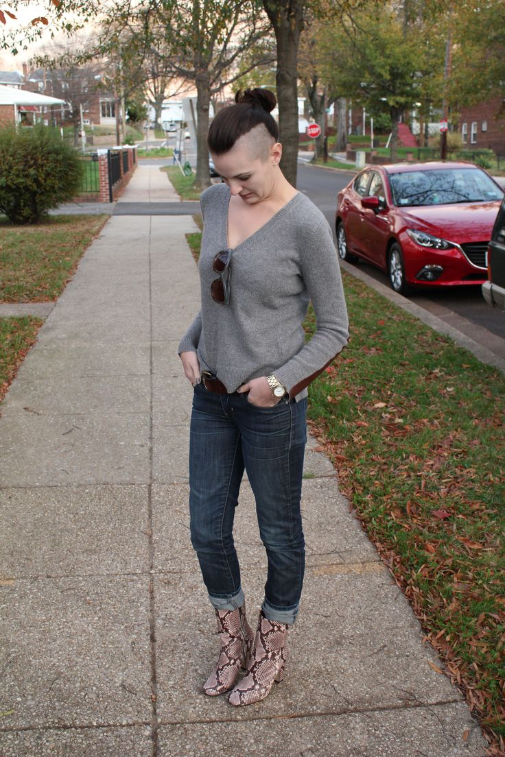 Fall Style with Cashmere and Snakeskin on DC Blogger Que Sera Sahra