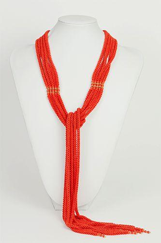 sciarpa in corallo tessito