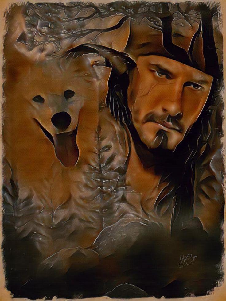 Картинки мужчина и волки