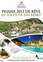 PESSAH2014  EDENPRESTIGE VACANCES PESSAH 2014 EDEN PRESTIGE