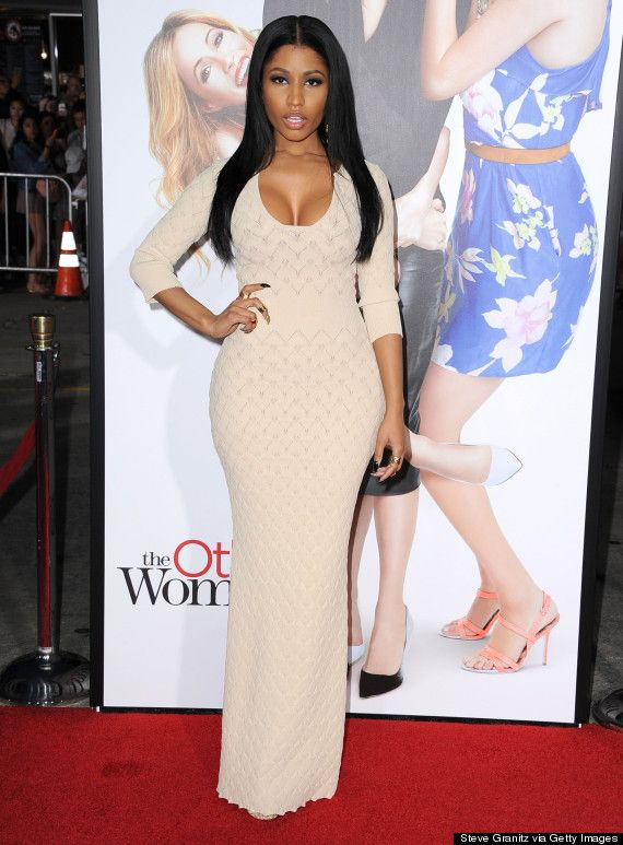 Nicki Minaj wears a knitted dress and works it well to the premier of #TheOtherWoman at the Regency Village Theatre in Los Angeles on April 21, 2014.