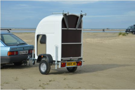 Living in a shoebox     Wide Path Camper launches foldable micro camper that can be towed by any car