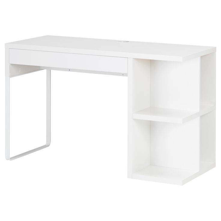 MICKE Schreibtisch mit Aufbewahrung - weiß - IKEA