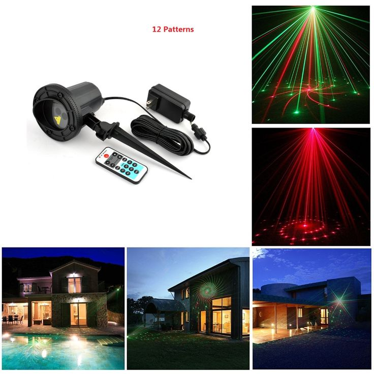 laser christmas lights outdoor Remote RG 12 Patterns Waterproof Latest Elf Laser Light projector garden landscape decorative deck design