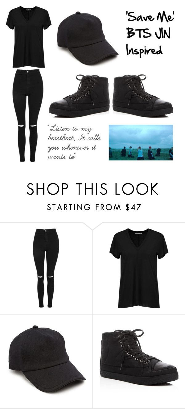 """'Save Me' BTS JIN Inspired"" by jungkookiez on Polyvore featuring Topshop, Helmut Lang, rag & bone and Tretorn"