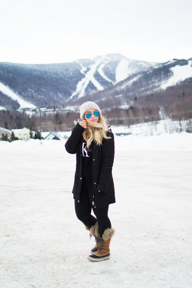 T h u r s d a y ,  J a n u a r y  1 9 t h ,  2 0 1 6 Black Coat // Similar Beanie // Sunglasses // Calvin Klein Pullover // Sorel Boots (on sale!) // Leggings Okay seriously, can you believe these …