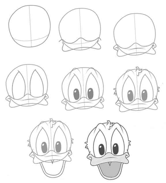 DRAWING-DONALD-DUCK-FACE.jpg 576×636 pixels