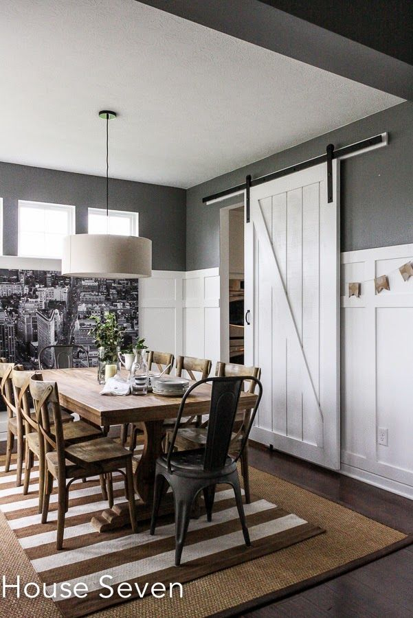 1000 images about board and batten addiction on pinterest for Barn door dining room