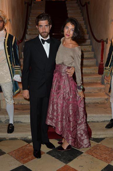 Carlo Borromeo (hermano de Beatrice, novia de Pierre Casiraghi) con su mujer, la diseñadora de moda Marta Ferri