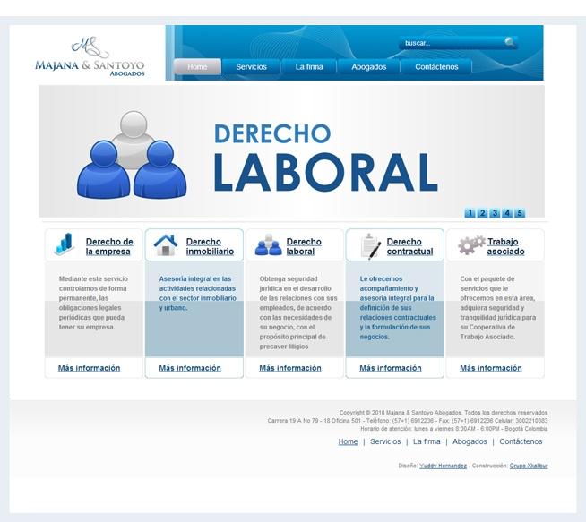 Diseño de sitio web Majana Santoyo Abogados, http://www.yuddyhernandez.com/portafolio/html/majana-santoyo.html