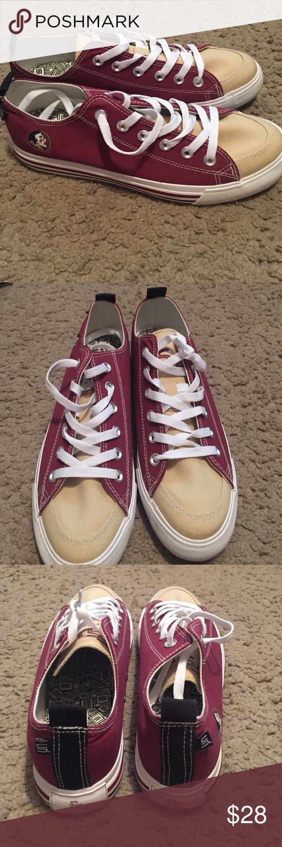 Florida State converse look-alikes Adorable sneakers made to look like converse. Bought for FSU football games but never worn. Comes with box! Shoes Sneakers