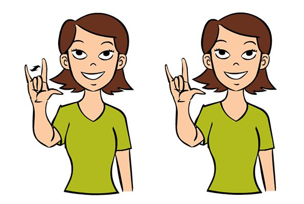 Video:  I Love You in Baby Sign Language   Signing: To sign I Love You, put up your thumb, index finger and pinkie finger, while keeping your